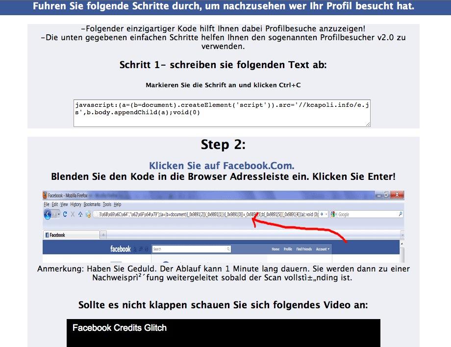 virus bei facebook