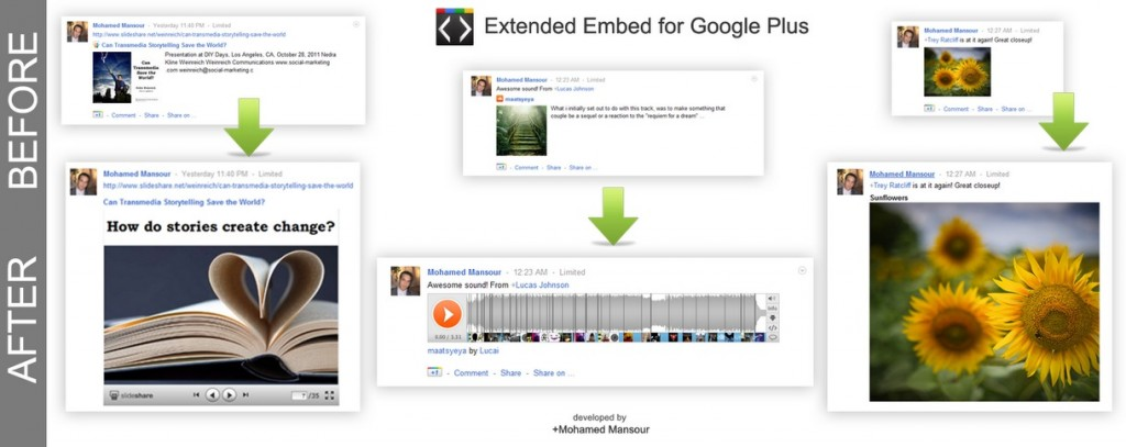 Google+ Embed Extension