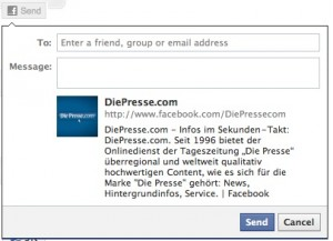 Facebook send Page invite 300x217 Fanpage Einladung mit Facebook Share oder Send